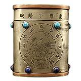 Laojunlu, scatola da tè artigianale in ottone antico e pietre preziose con scatola per tabacco stile 2 imitazione bronzo antico capolavoro collezione di gioielli solitari in stile tradizionale cinese