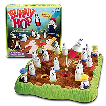 Educational Insights Bunny Hop  Memory & Color Recognition Preschool & Toddler Game 2-4 Players Ages 4+