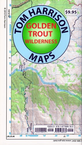 Golden Trout Wilderness Trail Map: Shaded-Relief Topo Map (Tom Harrison Maps)