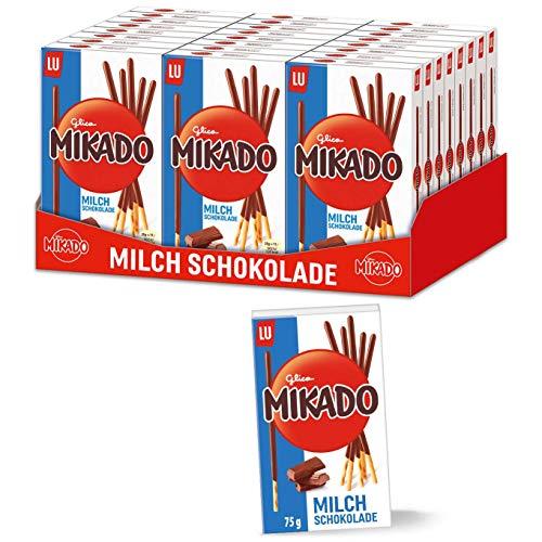 Mikado Milchschokolade 24 x 75g, Kekse überzogen mit Schokolade
