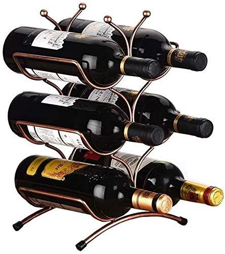 JFFFFWI Wine Rack Wine Glass Rack Wine Rack, 3-layer Stackable Wine Rack - Classic Wine Rack - Suitable For Bars, Cabinets, Pantry, Etc. - 6 Bottles, Metal For kitchen, restaurant, bar, home