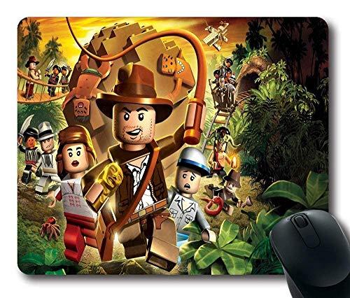 Alfombrilla de ratón rectangular personalizada de Indiana Jones Lego Figurines personalizada estándar rectangular para juegos en 220 mm, 180 mm, 3 mm, 1011046