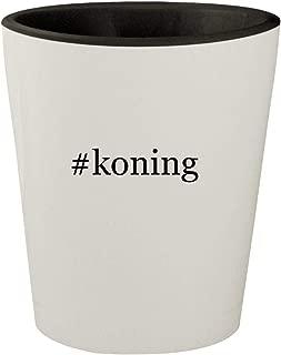 #koning - White Outer & Black Inner Hashtag Ceramic 1.5oz Shot Glass
