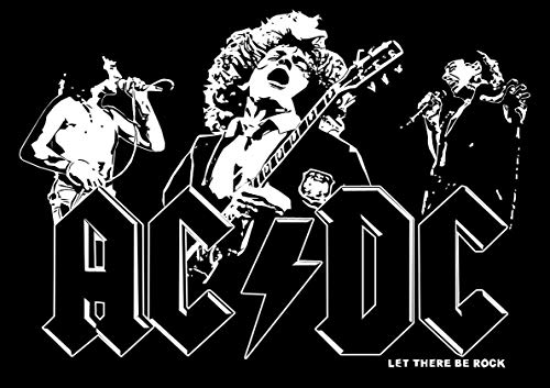 Poster Affiche ACDC Rock Band Let There BE Rock Wall Art