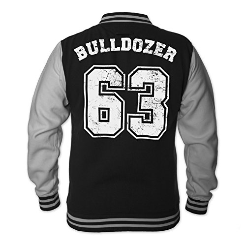Bud Spencer Herren Bulldozer 63 College Jacket (schwarz) (XL)