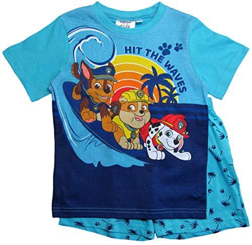PAW PATROL Schlafanzug Jungen Pyjama Schlafanzug Lang (Blau, 116)
