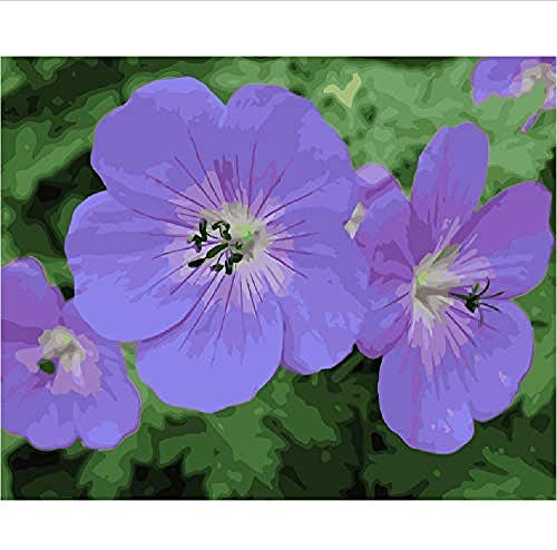 Madera Puzzles Rompecabezas de 1000 Piezas para Adultos 3D Classic Puzzle Flowers Purple Geranium DIY Educational Puzzle Home Decor Unique Gift-75x50Cm