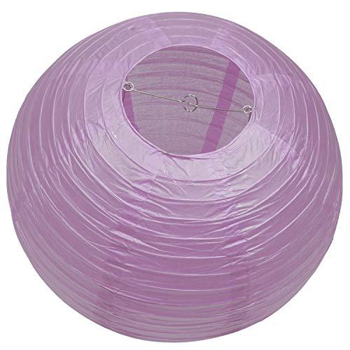 Gaoominy 1X Linternas de Papel Redondas Sombra de LáMpara DecoracióN de Boda 18 Pulgadas / 45 Cm, PúRpura Claro