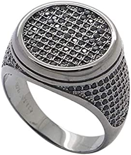 Atiq Black Rhodium Plated Sterling Silver Ring for men