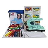 Fine Art Encaustic Einsteiger-Box mit Maleisen, Wachsfarben, Malkarten und Anleitung auf DVD, Coverfoto mit Monika Romer