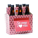 Beer Valentines Day Gifts for Him or Her - Six Pack Greeting Card Box (Set of 4) - Paper Anniversary...