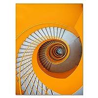モダンなファッションウォールスペースアートポスタースパイラル階段キャンバス絵画美学の風景プリントリビングルームの装飾 (Color : B, Size : 40x50cm No Frame)
