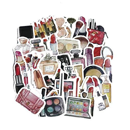 Cosmetica-stickers, stickers voor accounts met de hand om zelf te maken, waterbestendig, pvc-stickers (90 foto's)