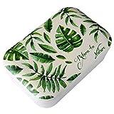DON'T PLASTIC ME Nachhaltige Lunchbox aus Bambusfaser mit grünem Blattmuster Zurück zur Natur