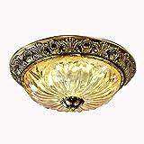 Hong Yi Fei-Shop Lámpara de Techo Cobre Europeo Luz de Techo Luz Redonda...