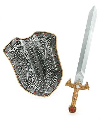 les colis noirs lcn Kit Bouclier et épée Chevalier médiéval Enfant en Plastique - Taille - Taille Unique - 217759