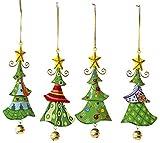 Metallanhänger 'Tannenbaum', Weihnachtsartikel / Dekoartikel 4er Set in Tannenbaum-Form, schöne Weihnachtsdekoration am Weihnachtsbaum, Fenster oder Türgesteck