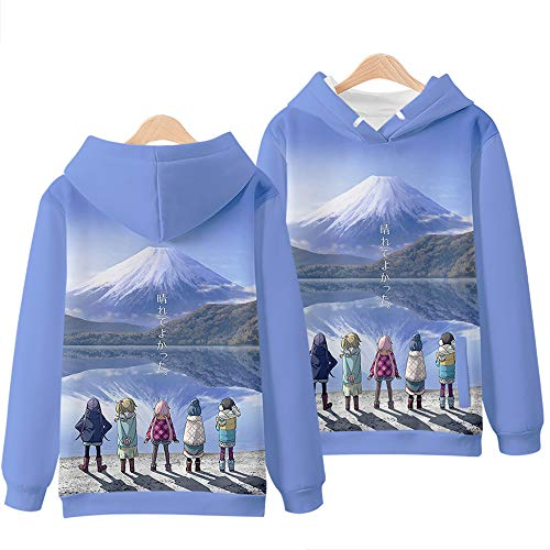 Anime Yuru Camp Hoodies Pullover Sweatshirt Japanese Anime 3D Print Hoodie Unisex Loose Leisure Sports Casual Hooded Top Sweatshirt
