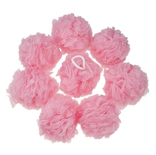 Vareone Fleur Fleurs éponge éponges Fleurs Pour Douche de Bain, Rose, 8 Pack