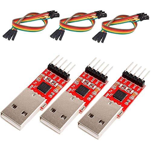 AZDelivery 3 x CP2102 USB zu TTL Konverter HW-598 für 3,3V und 5V mit Jumper Kabel für Arduino inklusive eBook!