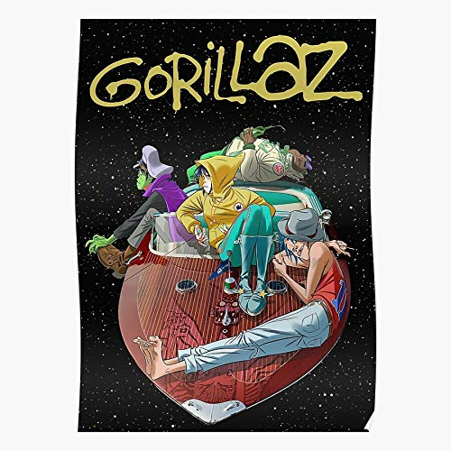 RockSchool Noodle 90S Cyberpunk Virtual 2D Murdoc Gorillaz Retro Band Geschenk für Wohnkultur Wandkunst drucken Poster 11.7 x 16.5 inch