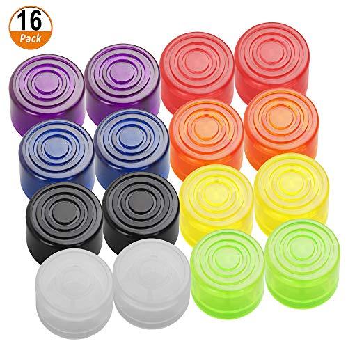 16 Stück Fußschalter Topper Bunt Fußnagelkappe Schutzkappe für Gitarre Effektpedal 8 Farben