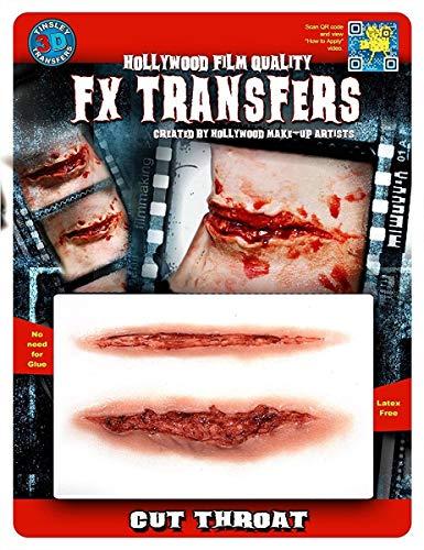 Tinsley Transfers Cut Throat, Flesh/Multi, One Size