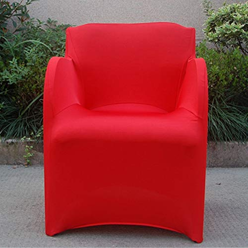PCSACDF Covers for Amchairs Chair Covers Armchair Slipcover Stretch Arm Chair Covers Wedding Party Hotel Home Supplies 73 * 55CM 73x55CM Red