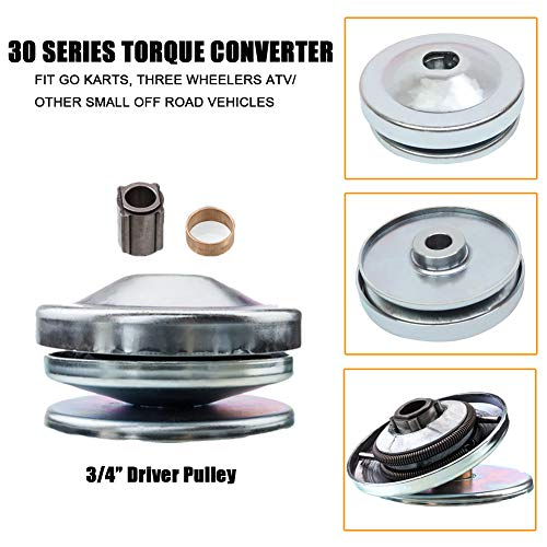 MotorFansClub New Torque Converter Kit Clutch Pulley Replacement 1 Driver 7//8 Driven Fit For Compatible With 40 Series 8-16HP Belt Go Kart