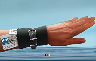 Armbandtasche schwarz FÜRS WASSER Wassersport bunt Tasche Wasser Aqua Safe Handgelenktasche Stretch Armband Geldbörse Reißverschluss Handgelenk Portemonnaie Geldgürtel Strand Armtasche