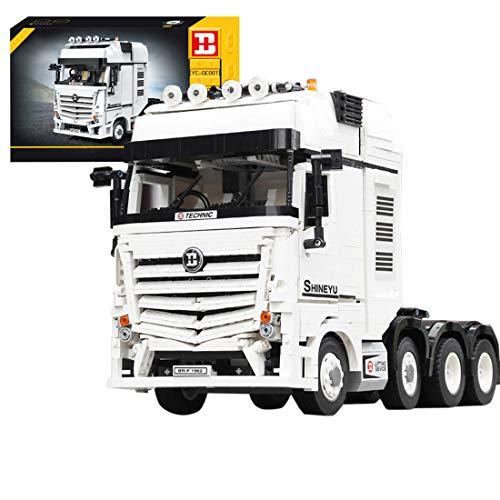 ColiCor Technic Bausteine LKW Truck Modell, 2949 Teile 4CH Anhänge für Technic Mercedes-Benz Arocs, Bausteine Konstruktionsspielzeug Kompatibel mit Lego Technic 42043