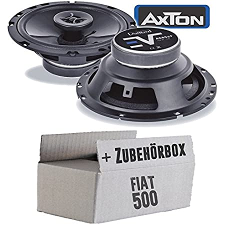 Axton Atx165 Loudspeaker Boxes 16 Cm 2 Way 160 Mm Coaxial Car Installation Accessories Installation Set For Fiat 500 Rear Just Sound Best Choice For Caraudio Navigation Car Hifi