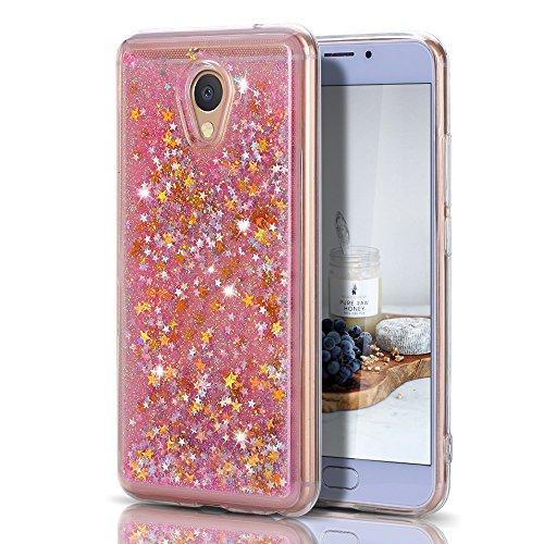 CaseLover Cover Meizu M5 Note, 3D Glitter Liquido Sabbie Mobili Trasparente Morbido TPU Silicone Custodia per Meizu M5 Note Brillantini...