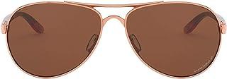 Oakley Women's OO4108 Tie Breaker Metal Aviator Sunglasses, Rose Gold/Prizm Tungsten Polarized, 56 mm
