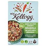 KELLOGGS cereales wk granola con frambuesa, manzana y zanahoria caja 300 gr