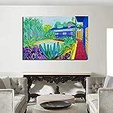 KWzEQ Affiche de Toile d'art de Mur de Jardin et décoration d'impression, utilisée pour la décoration de Maison de Salon de Bureau,Peinture sans Cadre,60x90cm