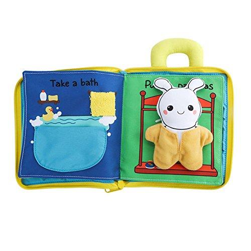 Baby Books Touch and Feel, Libros de Tela para bebés Libro de Tela Soft Touch Juguete Educativo Máquina Lavable Libros interactivos Juguetes educativos para niños y niñas