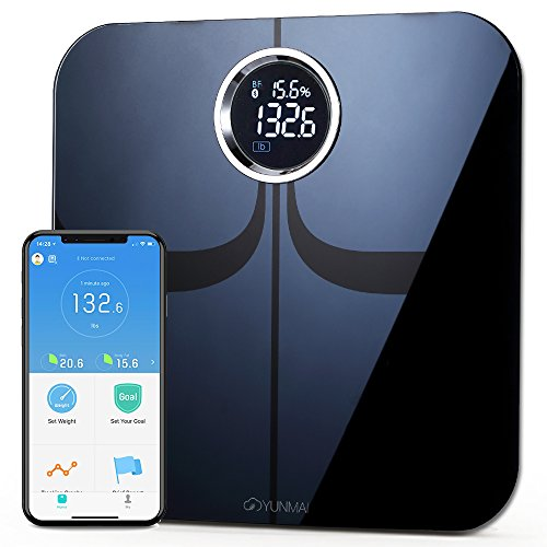 YUNMAI Premium Smart Scale - Body Fat Scale with New Free APP & Body Composition Monitor with Extra Large Display - Works with iPhone...