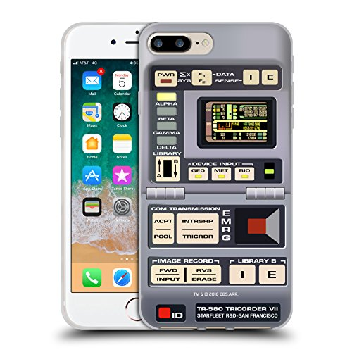 Head Case Designs Officially Licensed Star Trek Tricorder Gadgets TNG Soft Gel Case Compatible with Apple iPhone 7 Plus/iPhone 8 Plus