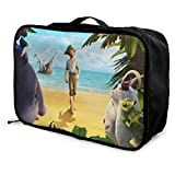 Robinson Crusoe Travel Lage Duffel Bag for Women Men Kids, Waterproof Large Backpack Capacity Lightweight Suitcase Portable Bags