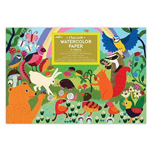 eeBoo, Pad Watercolor Woodland Rainbow