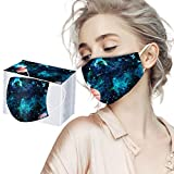 10/20/30/60/100PC Unisex Adulto Protector Bufanda Impresa - Moda Universal Bonita impresión 3 Capas Suave Elástico Earloop Bufanda para Mujeres Hombres -21203-9