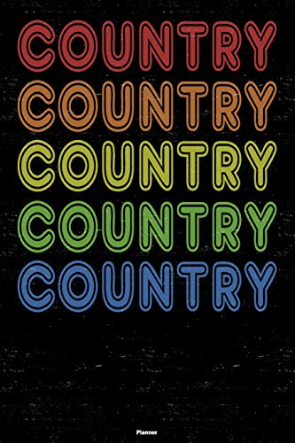 Country Planner: Country Retro Music Calendar 2020 - 6 x 9 inch 120 pages...