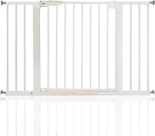 BabyDan Premier - Bebé Puerta de la Escalera Barrera de Seguridad Blanco, 112 - 119,3cm