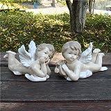 LOSAYM Esculturas Y Estatuas De Jardín Poliresina Estatua Figuras Encantadoras De Los Amantes del Án...