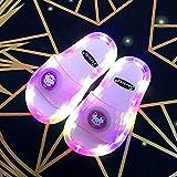 Zuecos Cross Mujer,Zapatillas Luminosas Coloridas, Verano para Padres Y NiñOs Led Soft-Soled Led Parpadeantes Y Zapatillas, Hijas-I 38/39 (235mm / 9.25')_Rosa