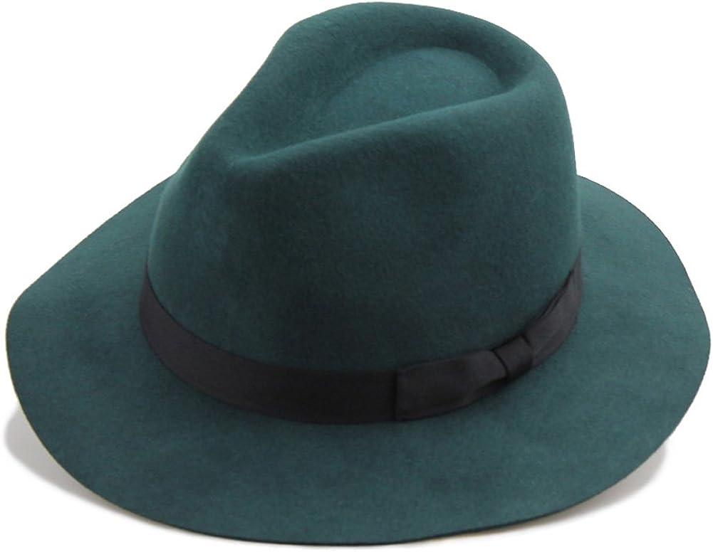 Financial sales sale Vitality Shop Wavy Edge Bowknot 100% Felt Hat Jazz Wool Women's Denver Mall