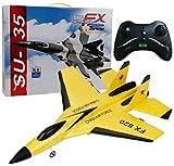HengYue RC Avion De Chasse Jet Jouet Télécommande Avion Système D'équilibre Gyro Intégré Avion Prêt à Voler pour Filles Garçons,Yellow