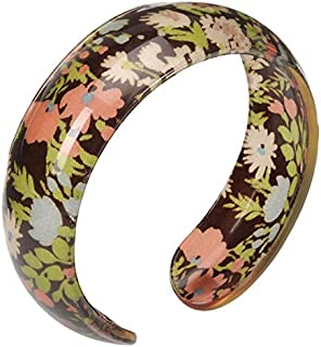 Floral Print Design Resin Bangle