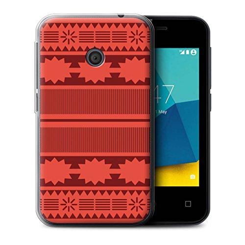 Stuff4® Gel TPU Hülle/Case für Vodafone Smart First 7 / Aztek/Prinzessin Kleid Muster/Karikatur Polynesische Prinzessin Kollektion